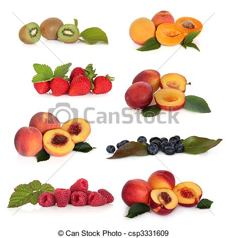 Stock Photographs of Soft Fruit Collection.