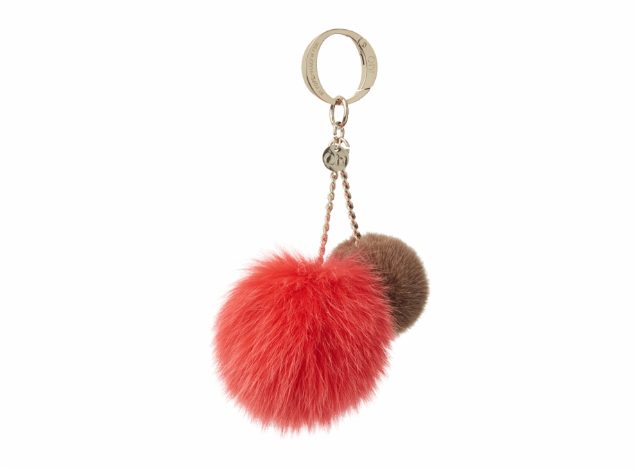 Alivia Pom Pom Is Made From Soft Mink Fur And Fox Fur.