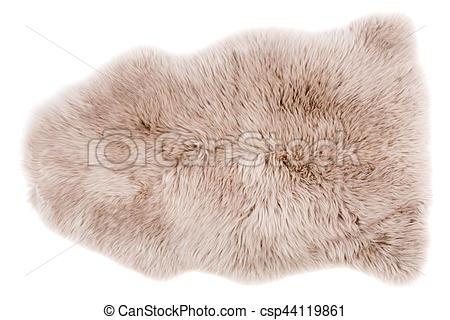 Sheepskin isolated on white.