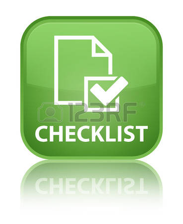 Free green square completed checklist clipart.