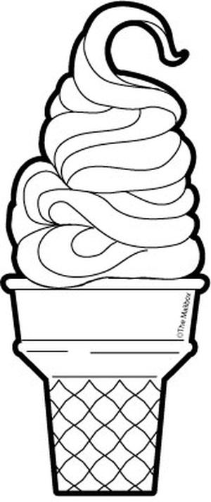 Soft serve ice cream clipart.