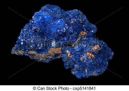 Stock Photography of Azurite mineral stone..