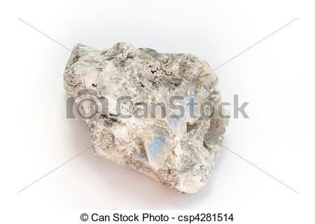 Stock Photo of gypsum, detailed macro shot of soft mineral calcium.