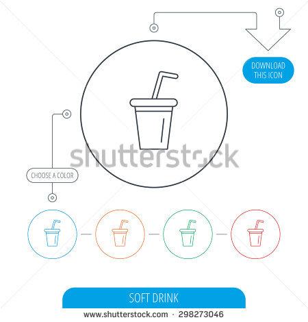 Freehand Drawn Cartoon Soda Stock Vector 350937656.