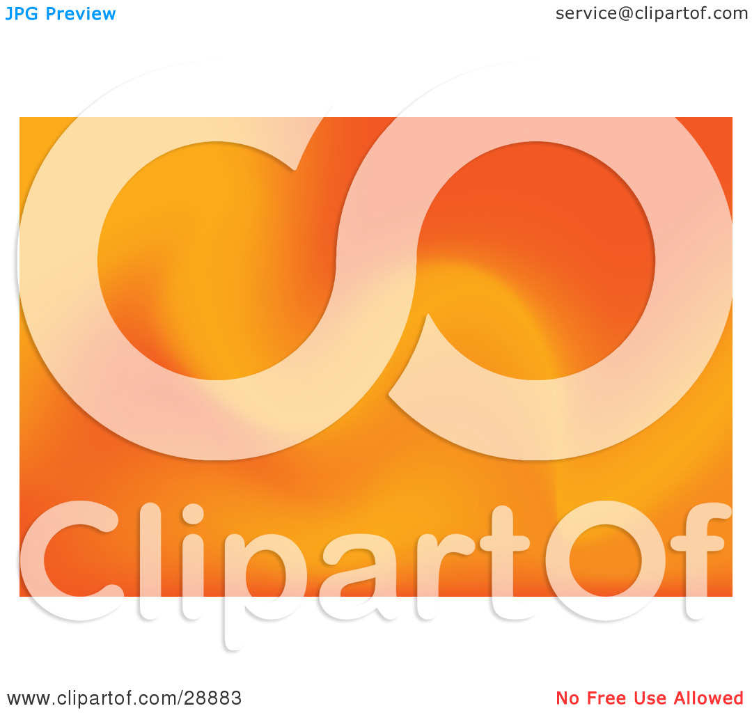 Clipart Illustration of a Background Of Soft Orange Waves by Tonis.