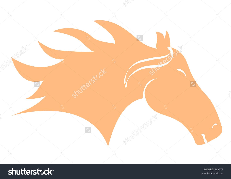Horse Head Soft Orange Stock Vector 289577.