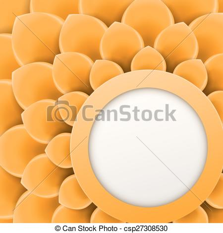 Vectors of Greeting card or background with soft orange flower.