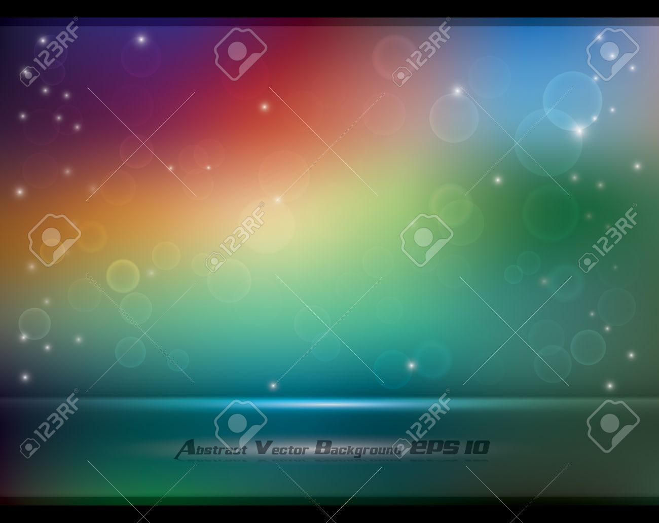 Abstract Colorful Soft Background With Bokeh And Glow Effects.