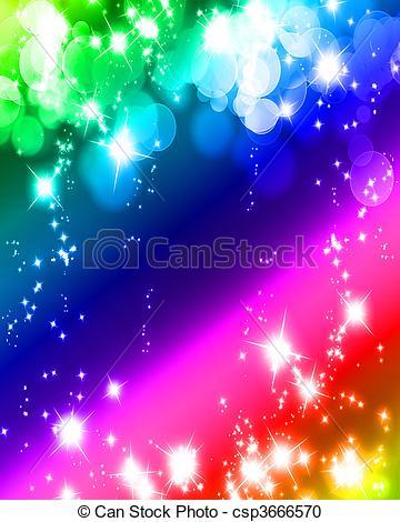 Stock Illustration of glowing glitter.