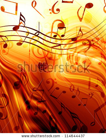 Bright Flowing Music Notes Stock Photos, Royalty.