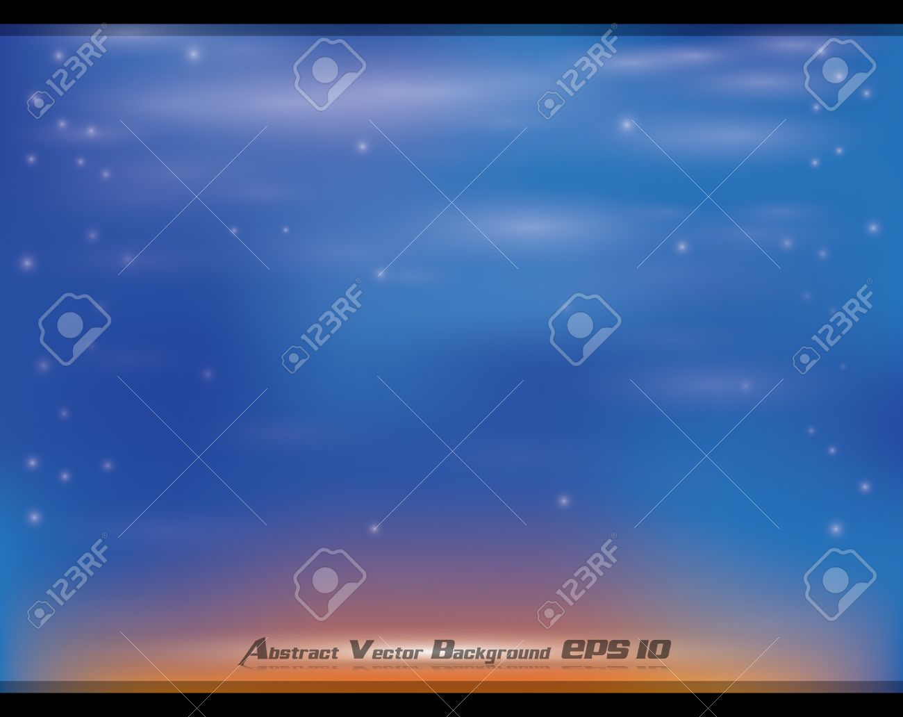 Abstract Blue Orange Soft Background With Glow Effects Royalty.