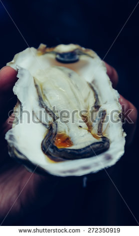 Big Oysters Plate Raw Stock Photos, Royalty.