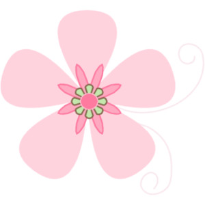 Pink Brown Flower Clip Art.