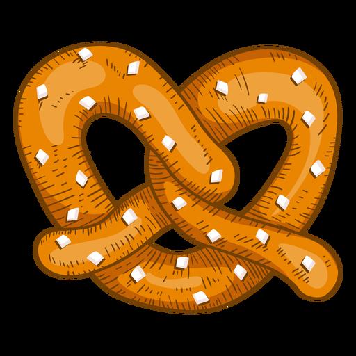 Soft pretzel drawing.