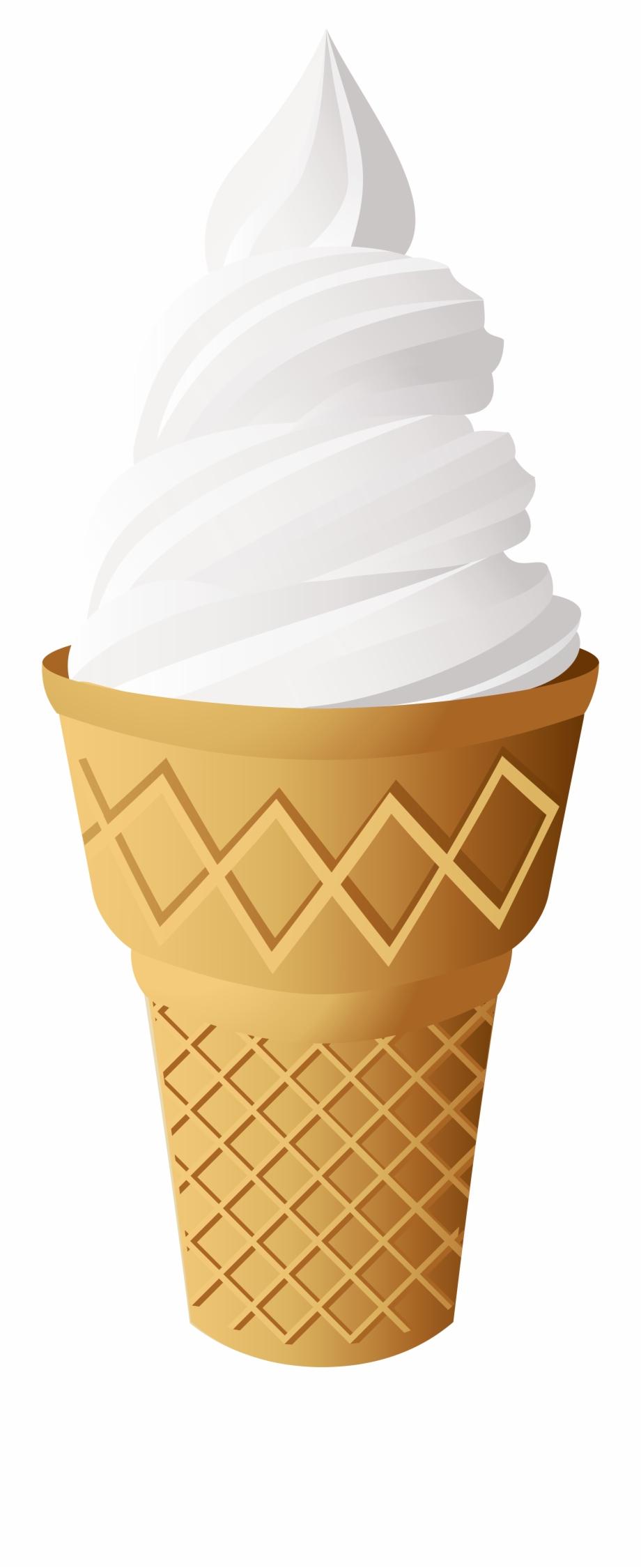 Vanilla Ice Cream Cone Png Clip Art.
