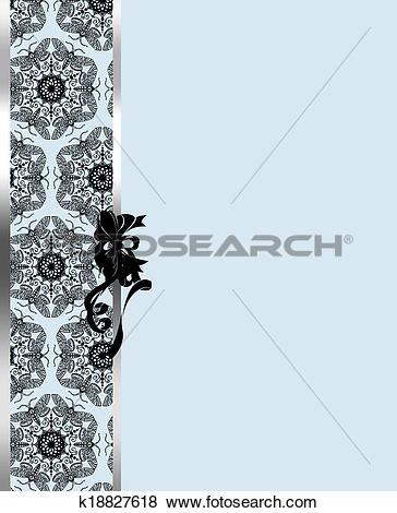 Stock Illustration of elegant silver and brown background with.