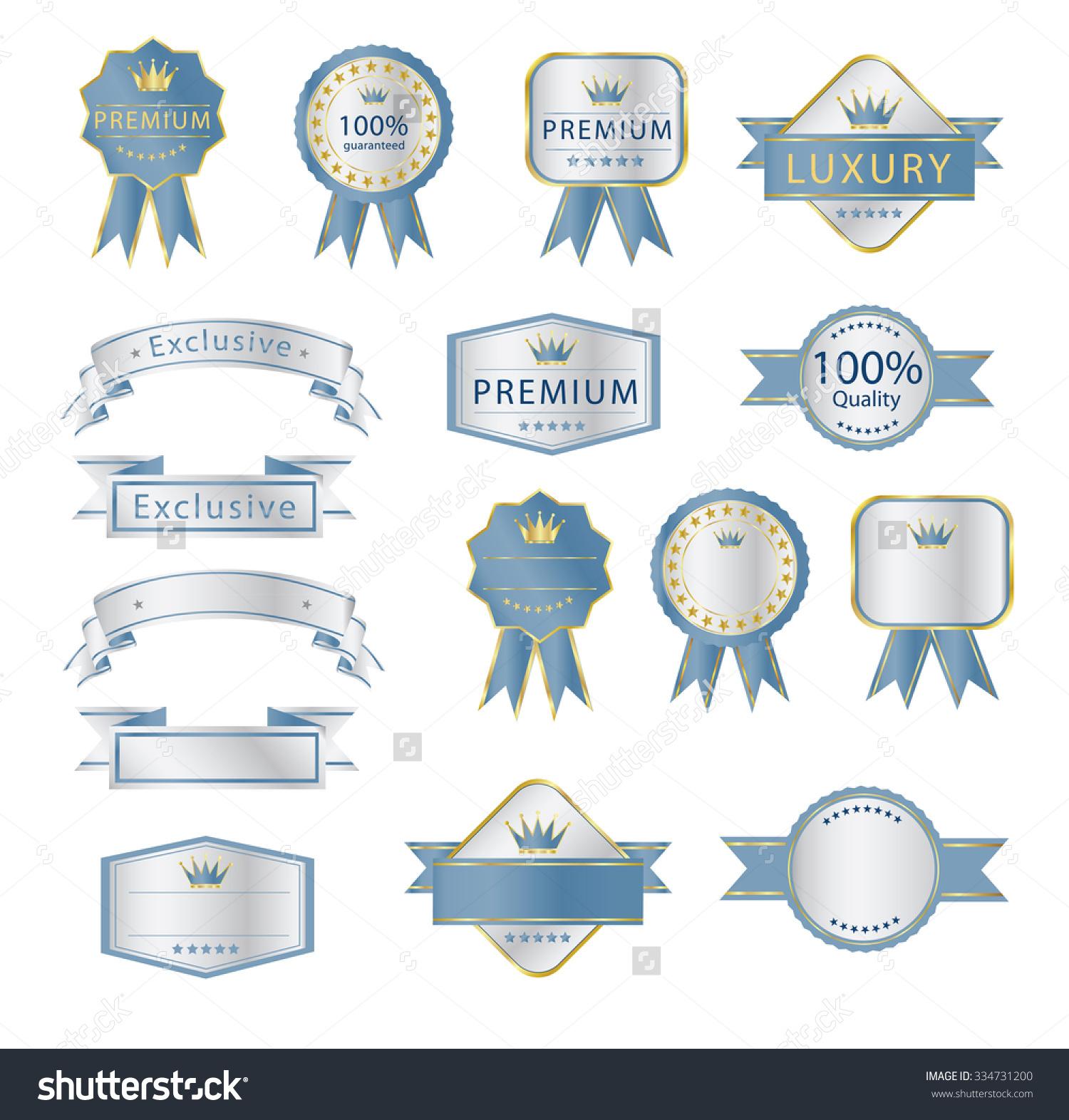 Blank Premium Label Budges Luxury Soft Stock Vector 334731200.