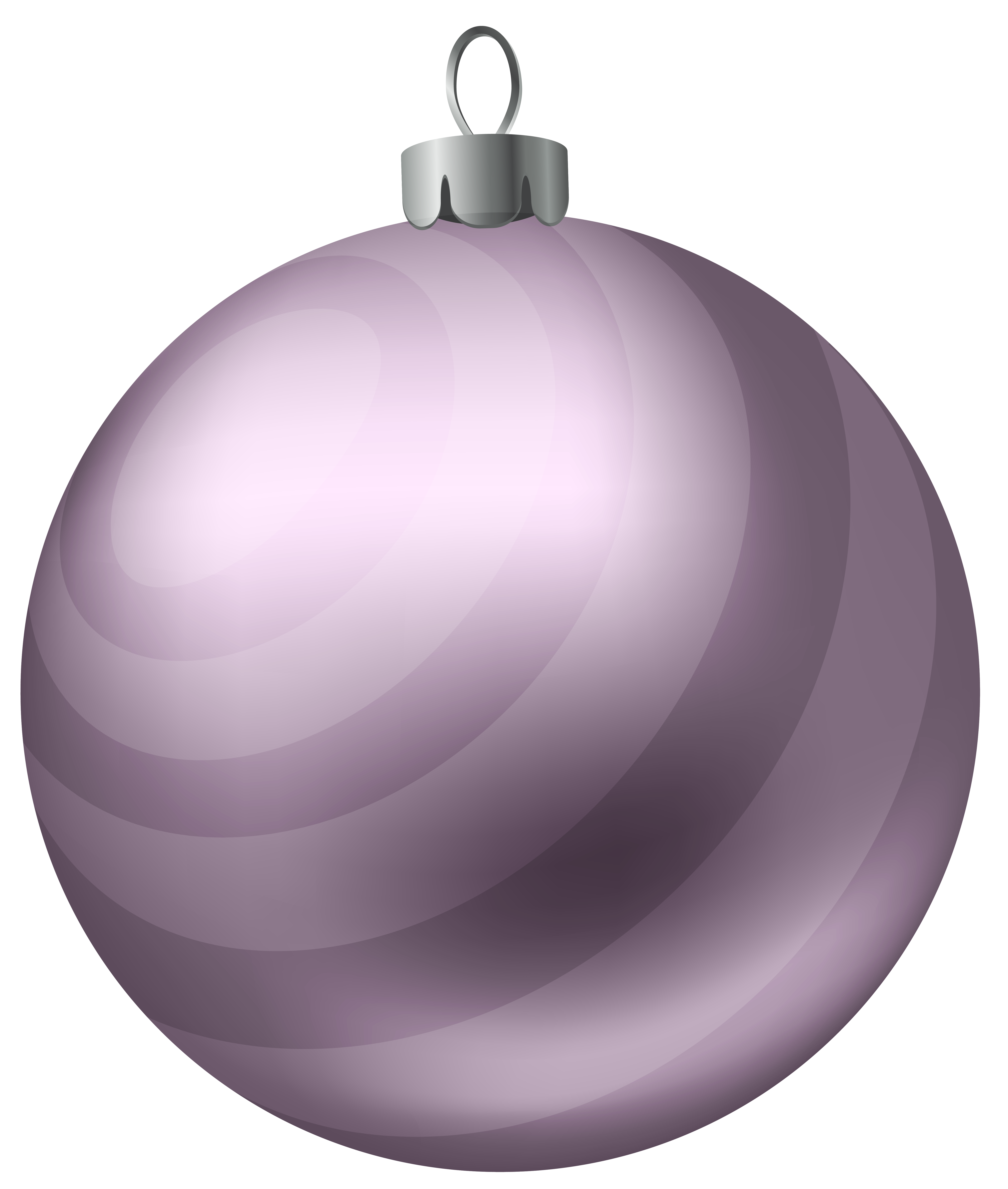 Christmas Ball Soft Purple PNG Clipart Image.