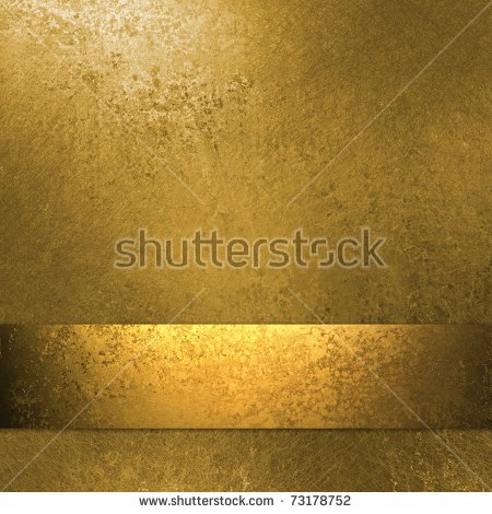 Classy Gold Background Wall Paint Border Stock Illustration.