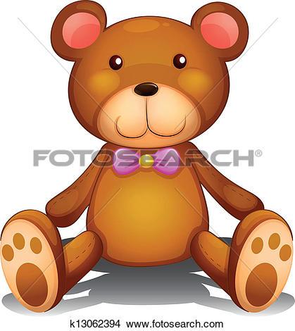 Clipart of Big brown bear head k17650985.