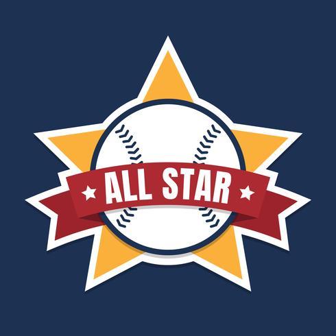 Baseball Or Softball All Star Graphic.