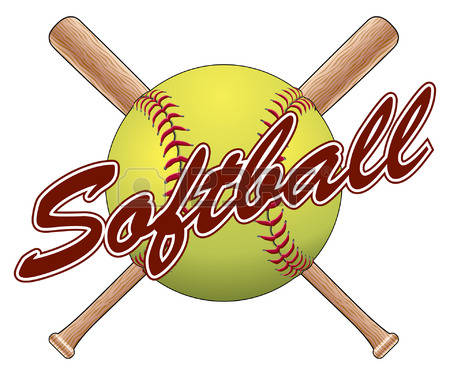 Softball Bats Clipart.