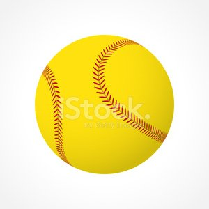 Softball Ball premium clipart.