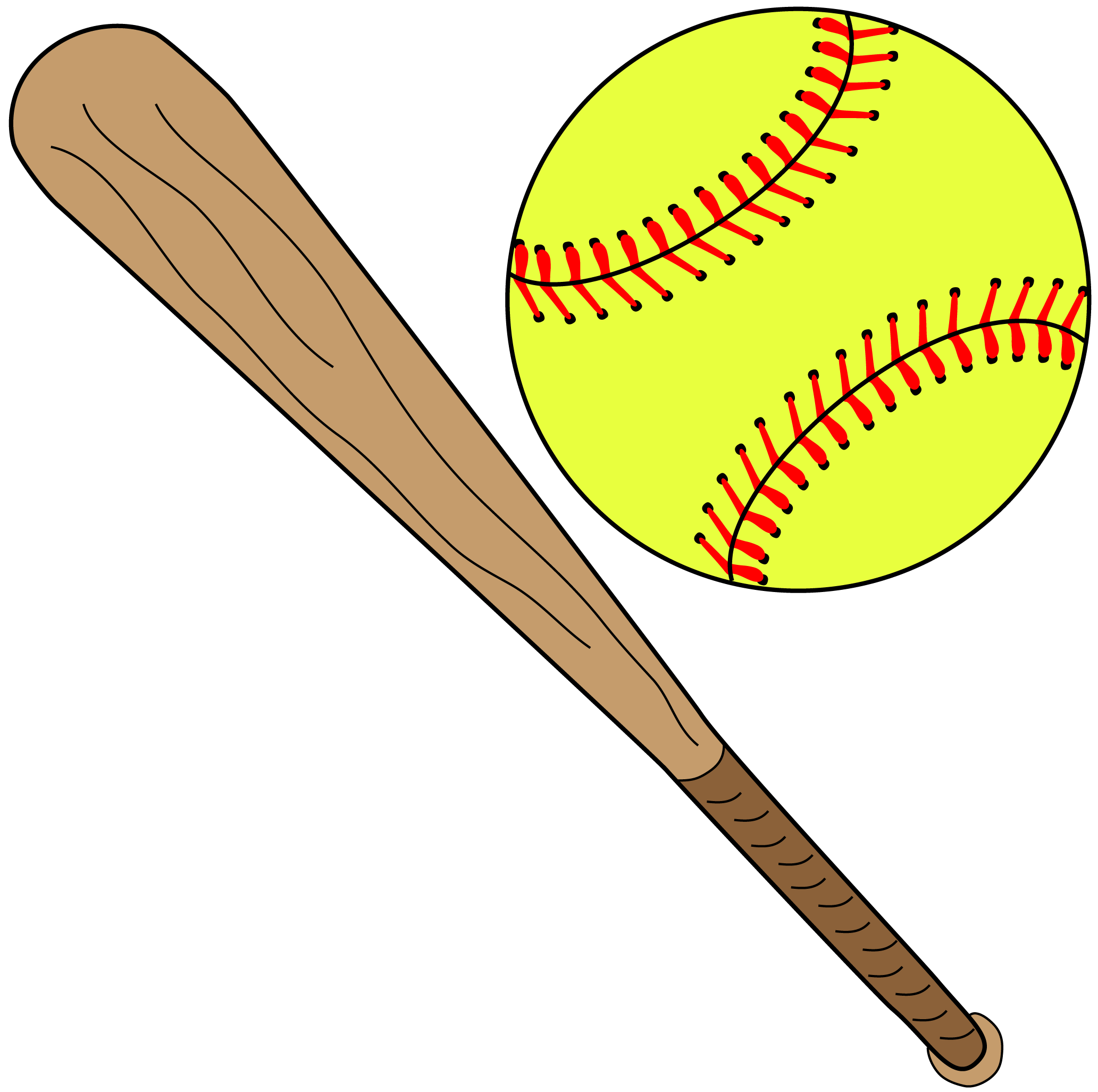 Softball Baseball bat Batting Clip art.