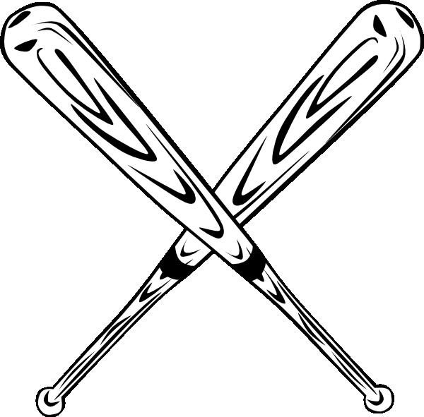 Softball Bats Crossed Clipart.