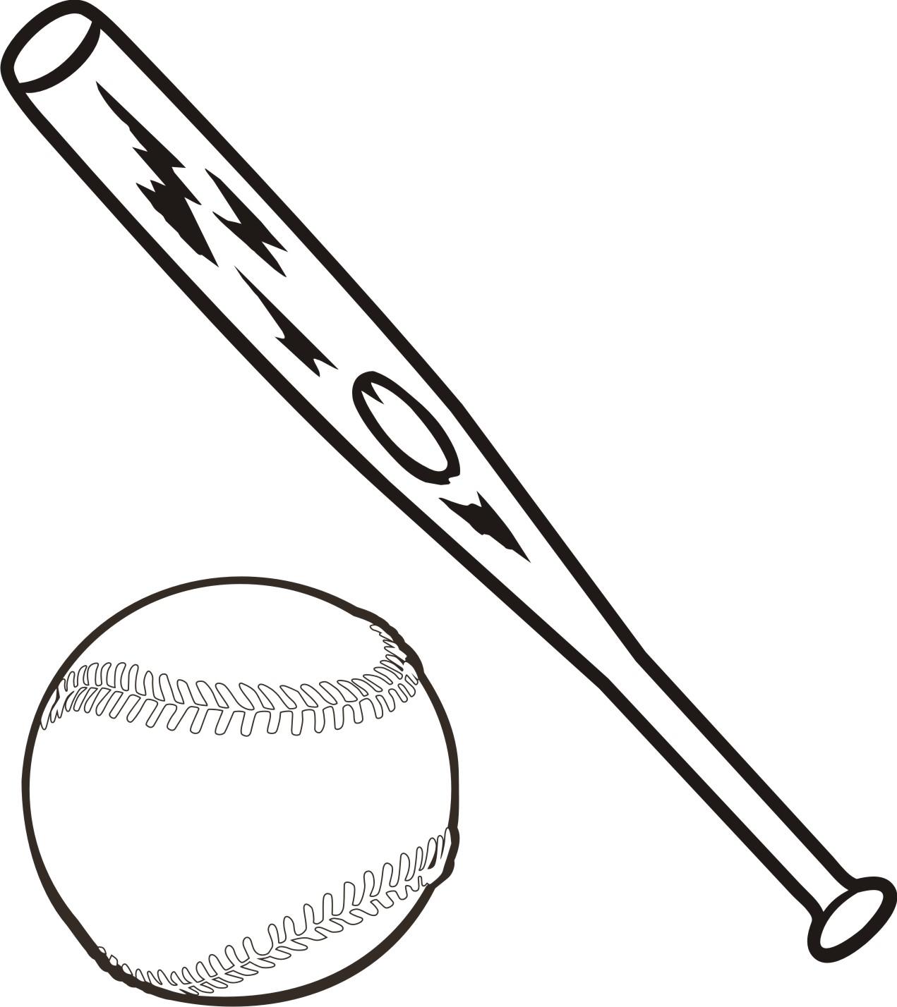 Baseball bat softball bats crossed clipart 2.