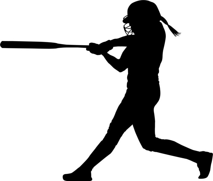 Free Softball Batter Silhouette, Download Free Clip Art.