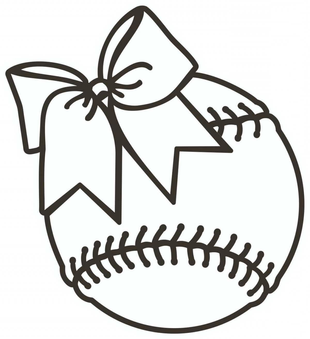 Softball Clipart Black And White.