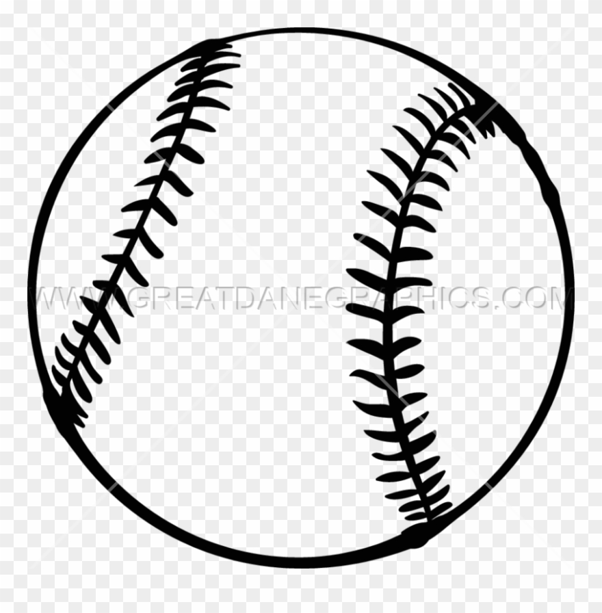 Softball Black And White Clipart Softball Baseball.