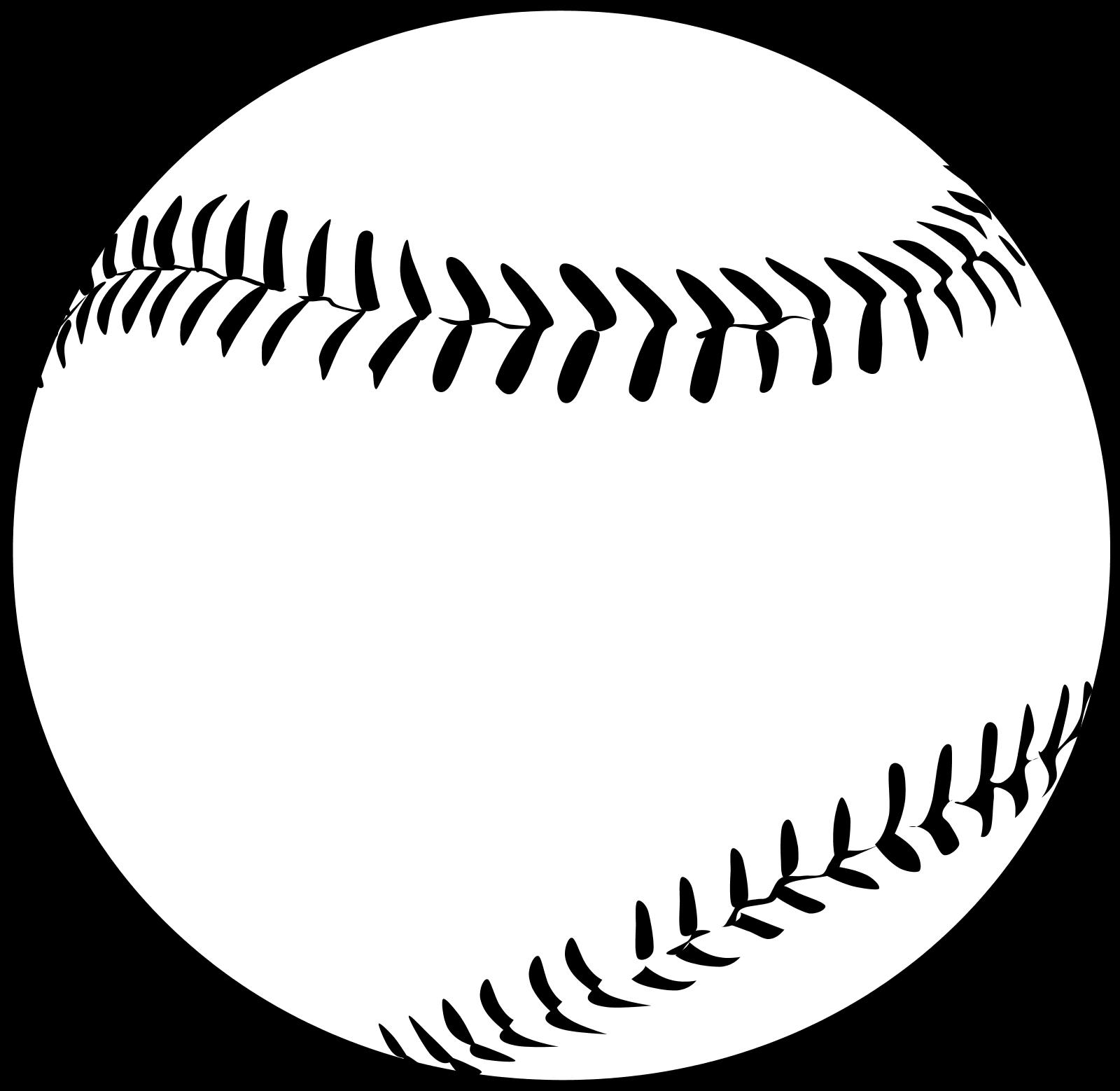 White Softball Cliparts.