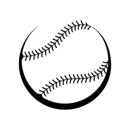 Black and white softball clipart 4 » Clipart Portal.