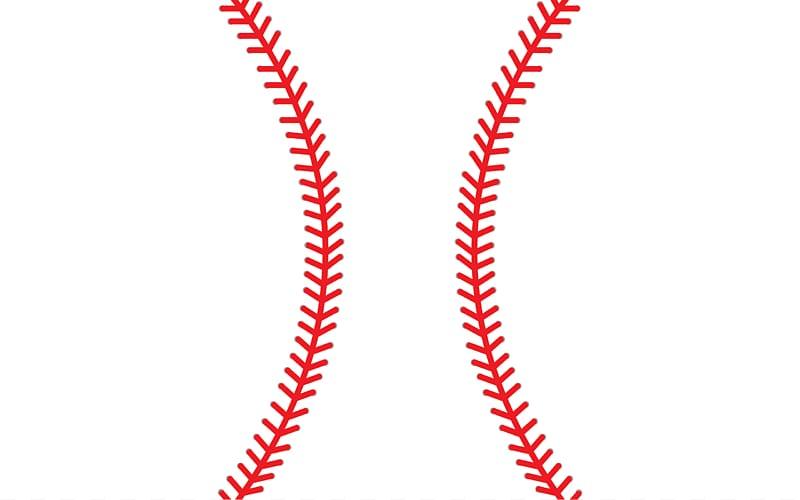 Red and white baseball , Baseball Stitch Softball Sport.