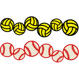 Volleyball Clipart Border.