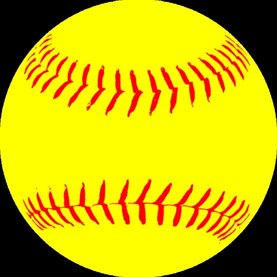 Yellow Softball At Clkercom Vector Online clipart free image.