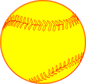 Softball cartoon clip art.