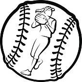 Softball Clip Art and Illustration. 3,264 softball clipart vector.