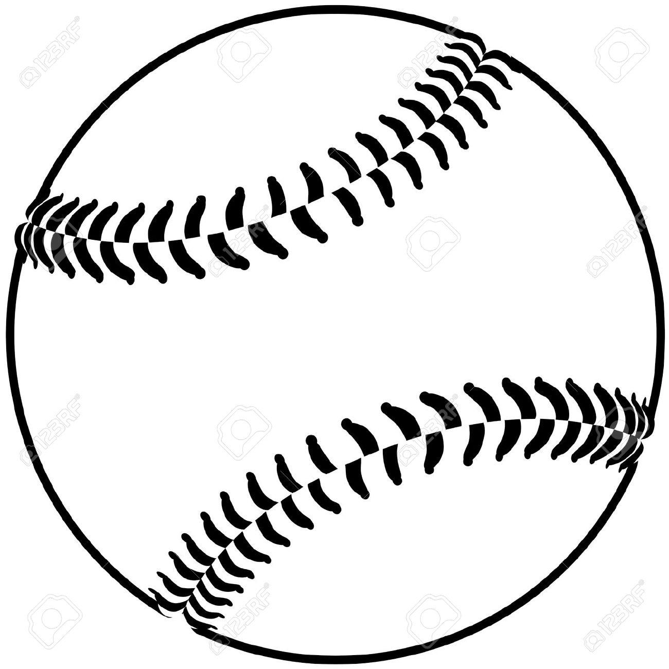 softball clipart black and white - 116.5KB