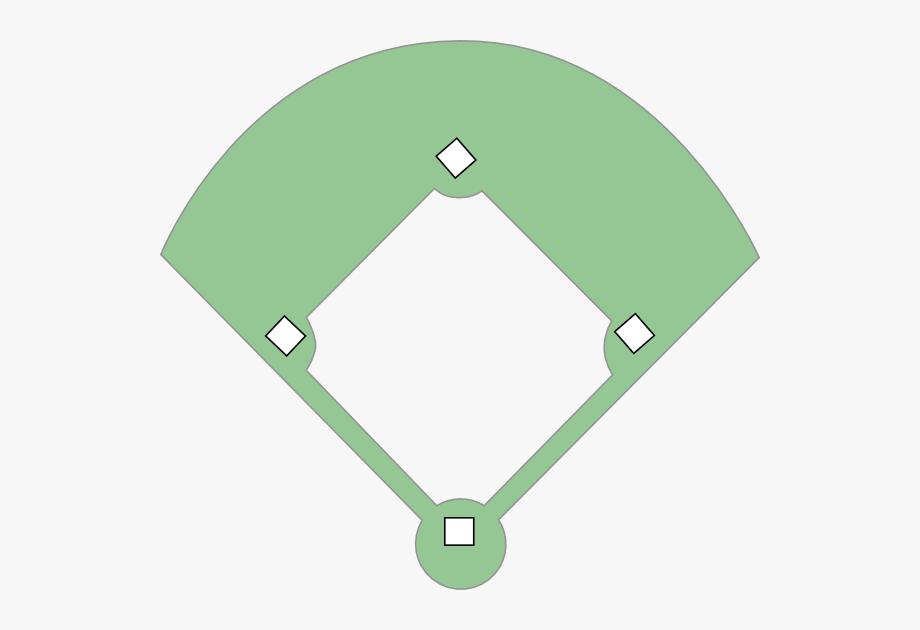 Softball Diamond Clipart.