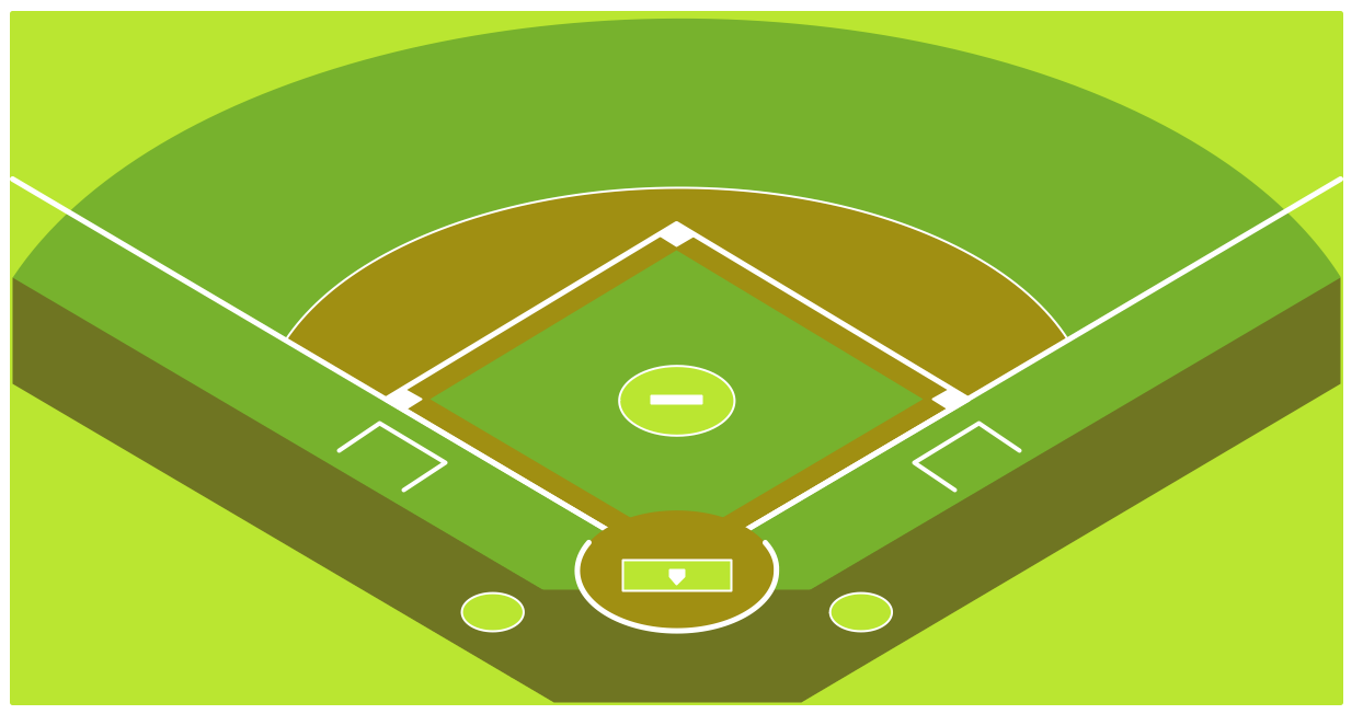 18+ Softball Field Clipart.