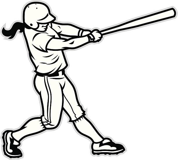 Softball Batter Clip Art, Vector Images & Illustrations.