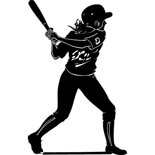 Girl Baseball Player Clipart (110+).