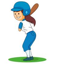 Softball Player Clipart.