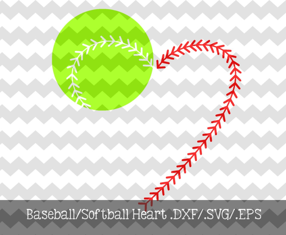 Softball Heart Clipart Clipground