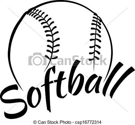 Free Softball Clipart.