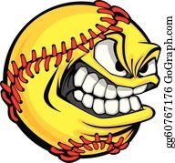 Softball Clip Art.