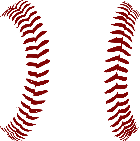 Red Softball Laces Only Clip Art at Clker.com vector clip.